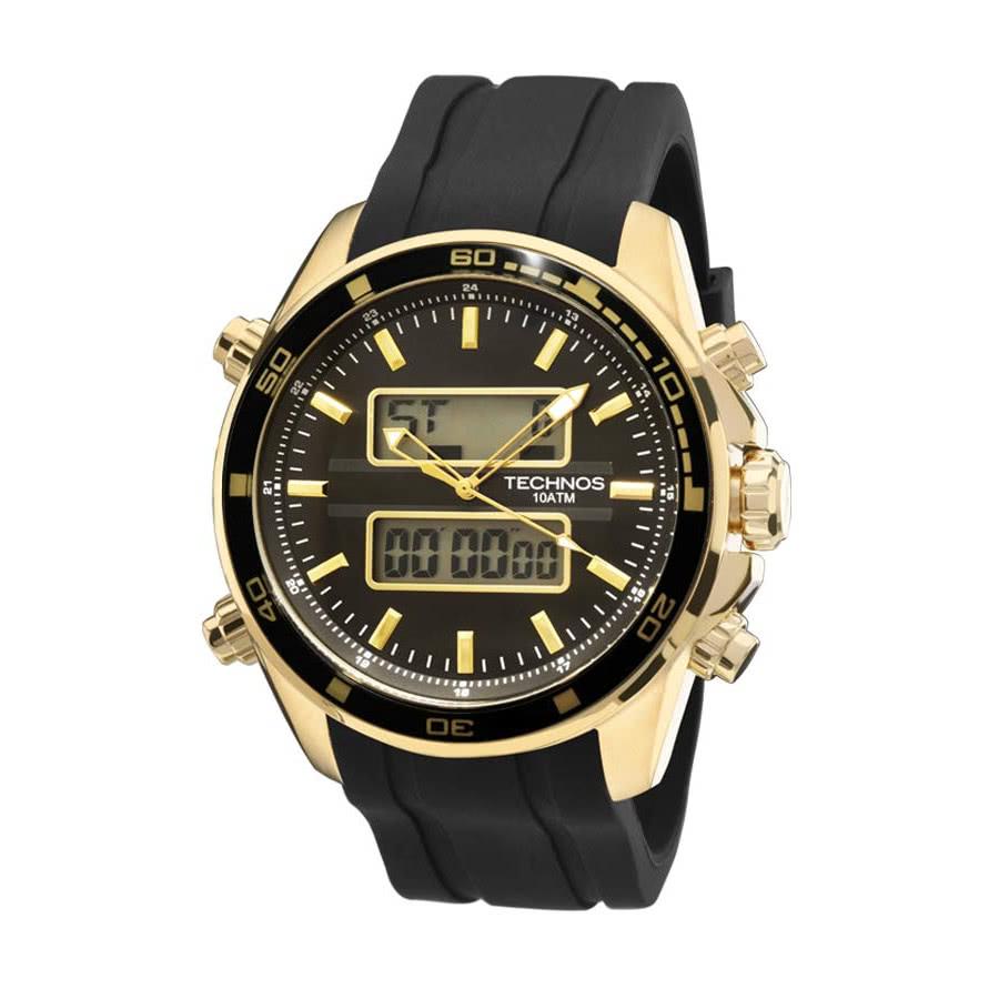 03e11fa4f2f10 Relógio Technos Masculino Analógico e Digital 0527AG 8P com pulseira de  silicone
