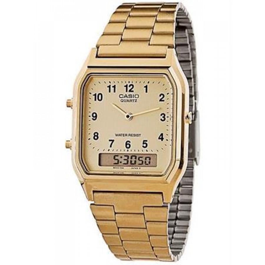 d74a372a639 Relógio Casio Dourado Analógico Digital AQ230GA9BMQU