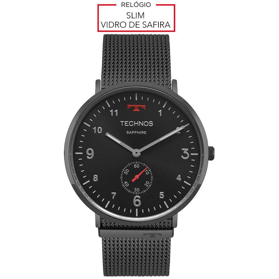 Relógio Technos Preto Classic Slim 1L45AW 4P 2a64912f56