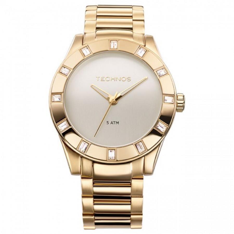 7ed998dd29d11 Relógio Technos Feminino Elegance Swarovski 2035FFH 4X