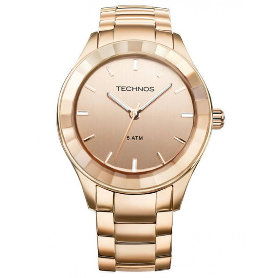 7593357ed3c Relógio Technos Feminino Elegance Crystal Swarovski 2035LNH 4T