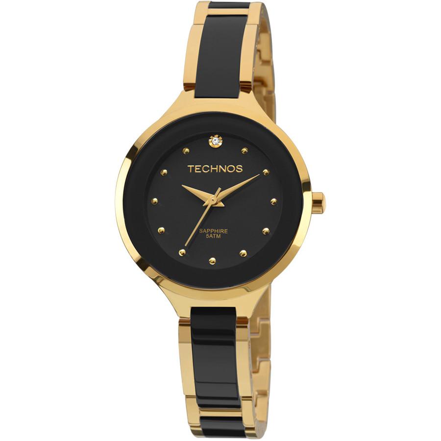 ec4496ce57549 Relógio Technos Elegance Dourado Cerâmica 2035LYW 4P