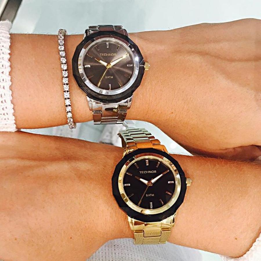 Relógio Technos Elegance Feminino Crystal 2035MCL 1C 8bd2ce1a75