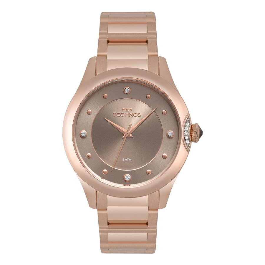 bbd5e2fbd3f Relógio Technos Feminino Elegance Crystal Rosé 2035MQA 5C