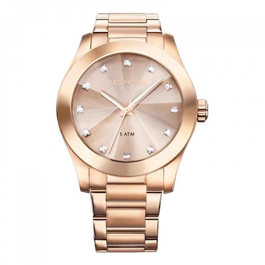 66b707c15602f Relógio Technos Feminino Elegance Crystal Swarovski 2036LLW 4T