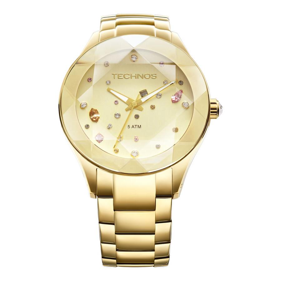 50649344c2585 Relógio Technos Feminino Elegance Crystal 2039AT 4X
