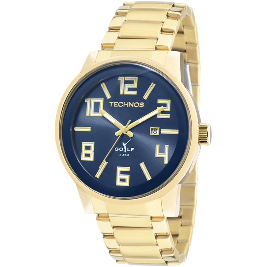 36a30bd44fc Relógio Technos Masculino Dourado Classic Golf 2115KQU 4A