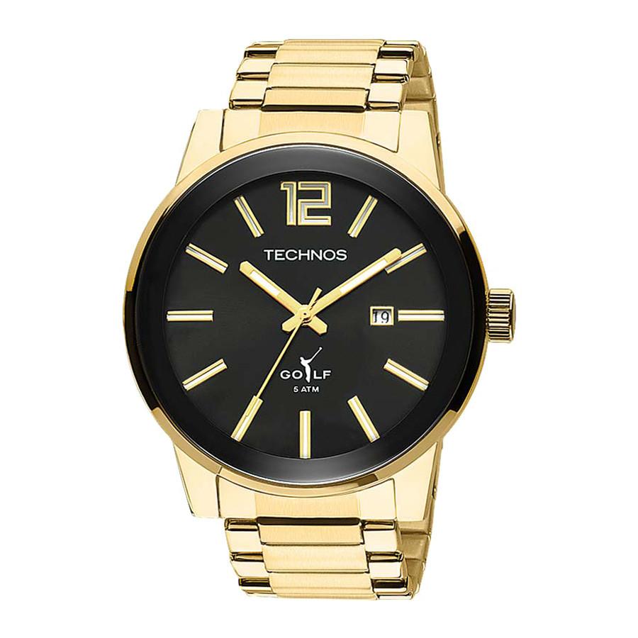 Relógio Technos Golf Masculino Analógico Dourado 2115TT 4P 61d7edaa9c
