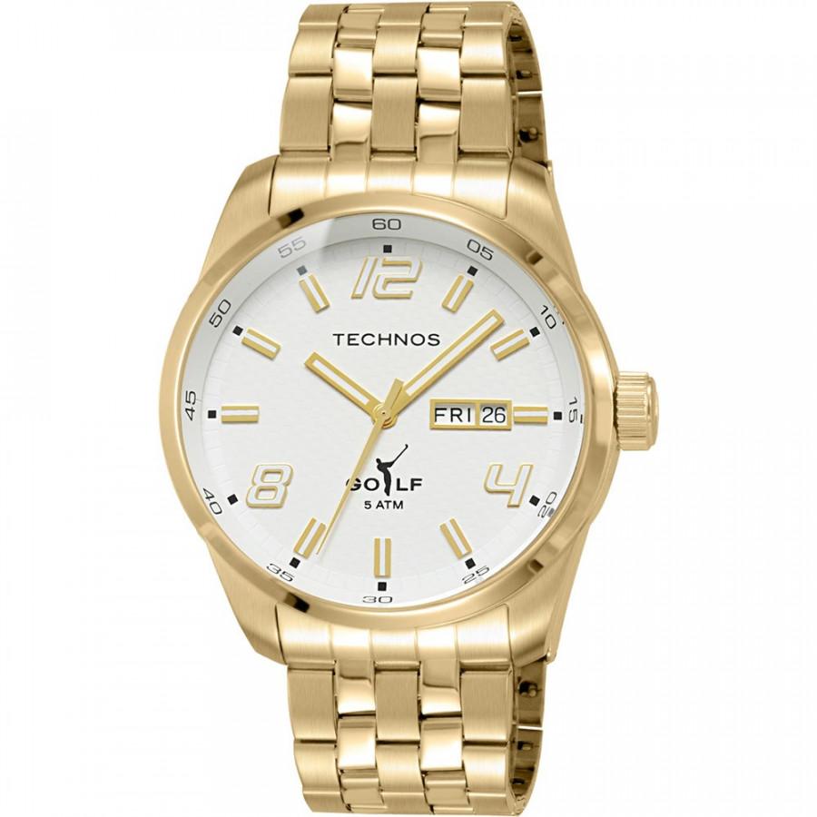 Relógio Technos Masculino Dourado Classic Golf 2305AE 4B e1da8c0cdf