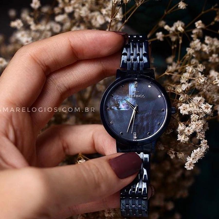 02f62d2e2ad Relógio Technos Feminino Azul Fashion Trend 2036MJH 5A