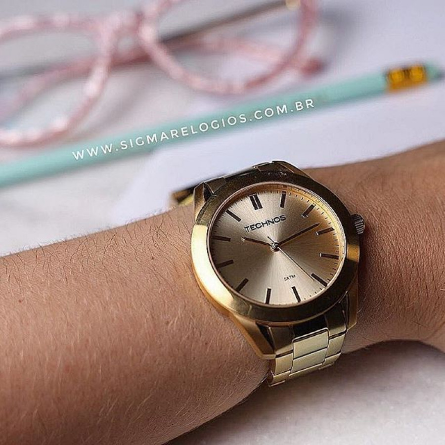 0d39c350280 Relógio Technos Dourado Analógico Steel 2035LRP 4X