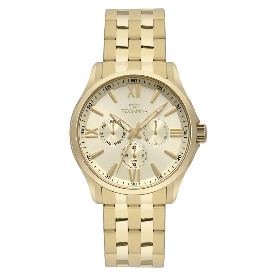 c877f4b6162b5 Relógio Technos Masculino Dourado Executive 6P29AJU 4X