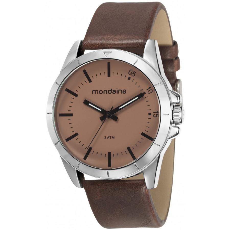dade55c058d Relógio Mondaine Masculino Pulseira de Couro 76701G0MVNH2