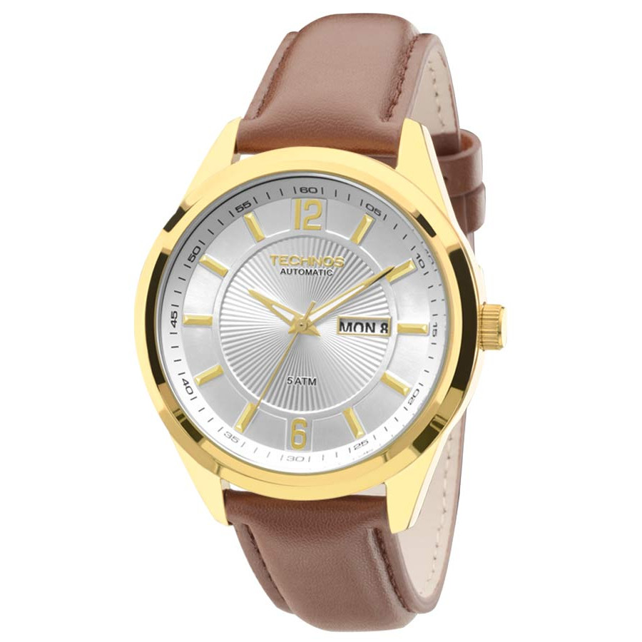 Relógio Technos Masculino Automático 8205NL 2K 9c8cb5c68f