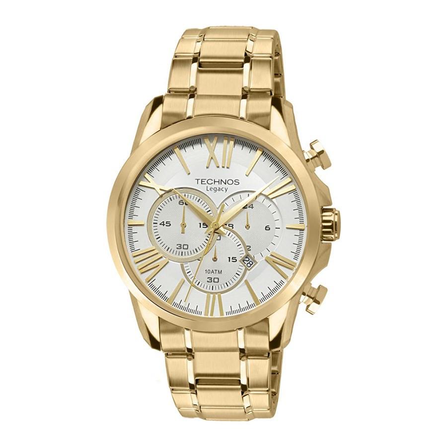 Relógio Technos Masculino Dourado Grandtech OS20EF 4K ff68c3685e