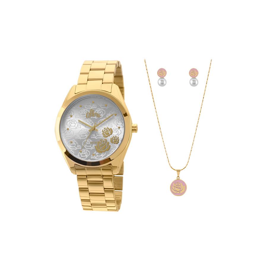Kit Relógio Allora Feminino AL2035FAZ K4K + Colar e Brincos 267dbb15a7