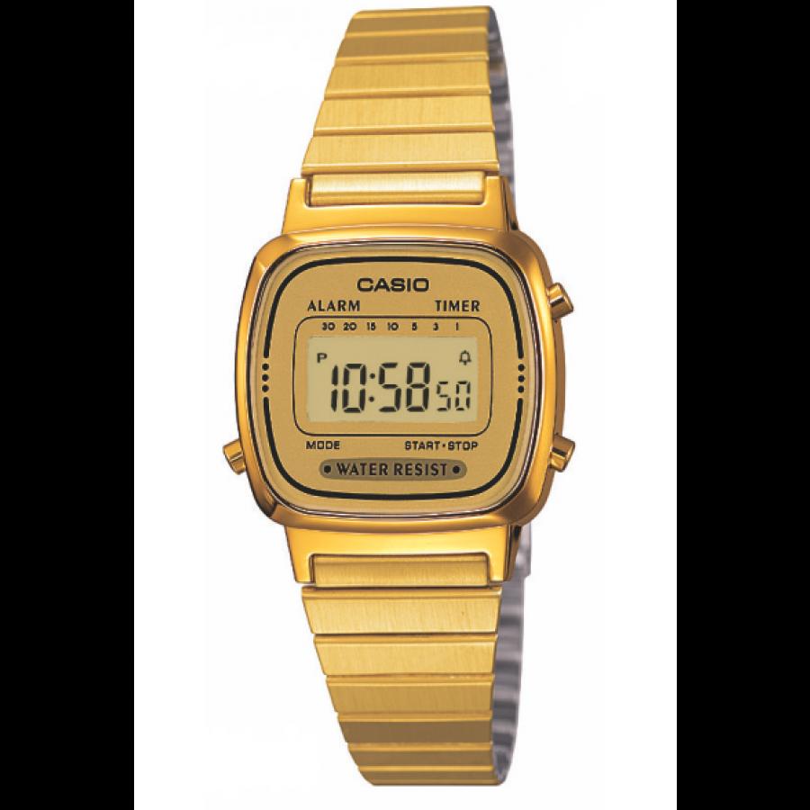 17ebc2d84ae Relógio Casio Dourado Vintage Digital LA670WGA9DFU
