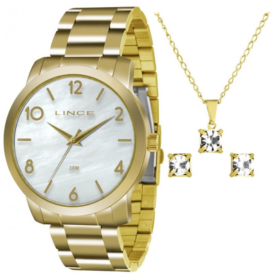 ac61135ce90 Kit Relógio Lince Dourado Feminino LRG4374LKU17