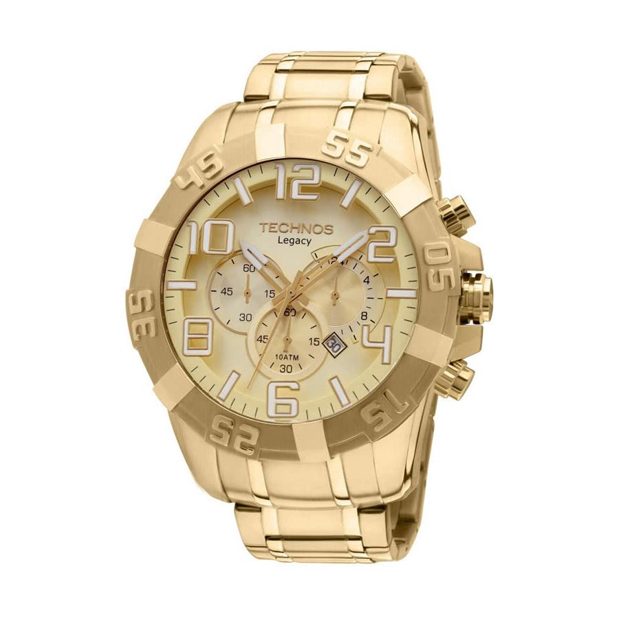 98edb06e04b Relógio Technos Masculino Dourado Legacy OS20IK 4X