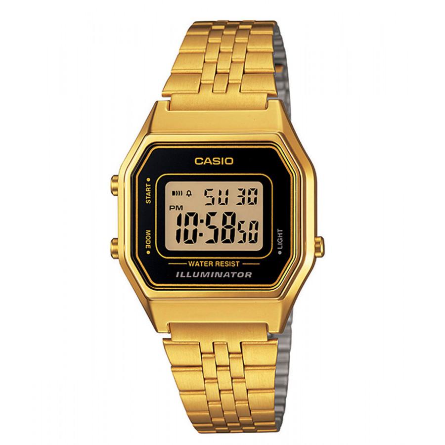a4544e79333 Relógio Casio Vintage Digital Dourado LA680WGA1DF
