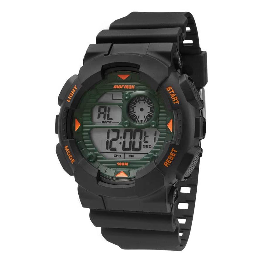 e7a67b9f023 Relógio Mormaii Preto Masculino Wave Digital MO3415 8V