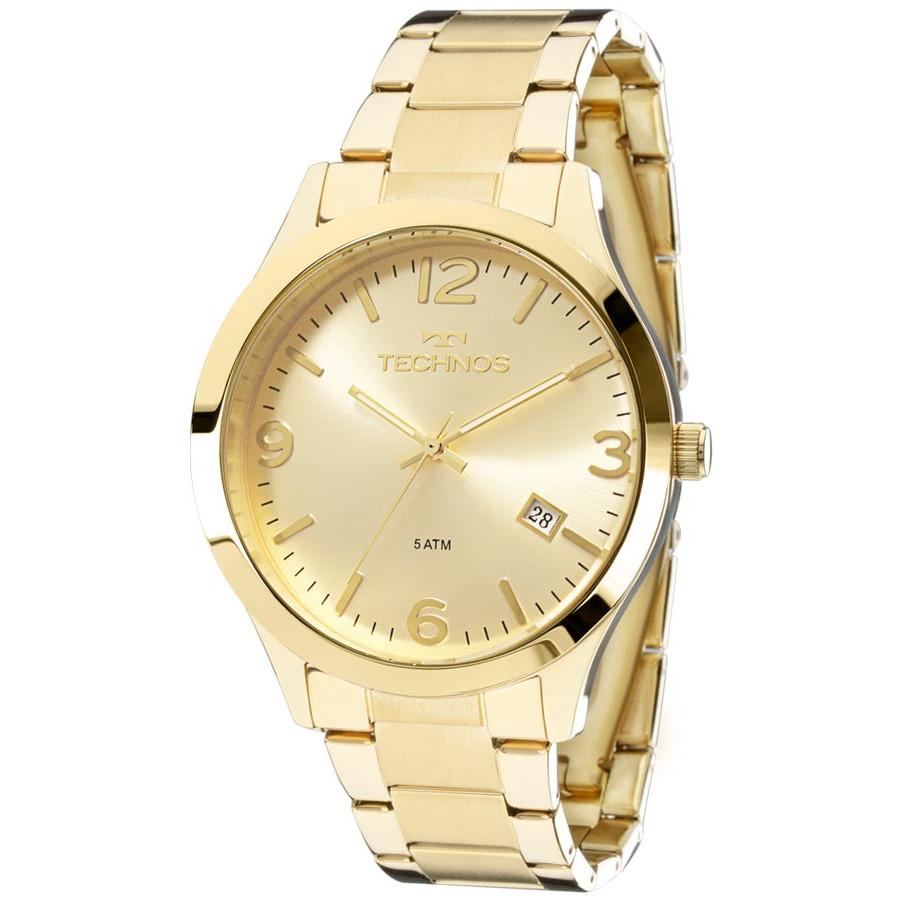 9808d2db526 Relógio Technos Dourado Feminino Elegance Dress 2315ACD 4X