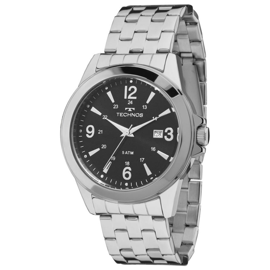 Relógio Technos Prateado Masculino Classic Steel 2115LAB 1P 6b9545cbdb