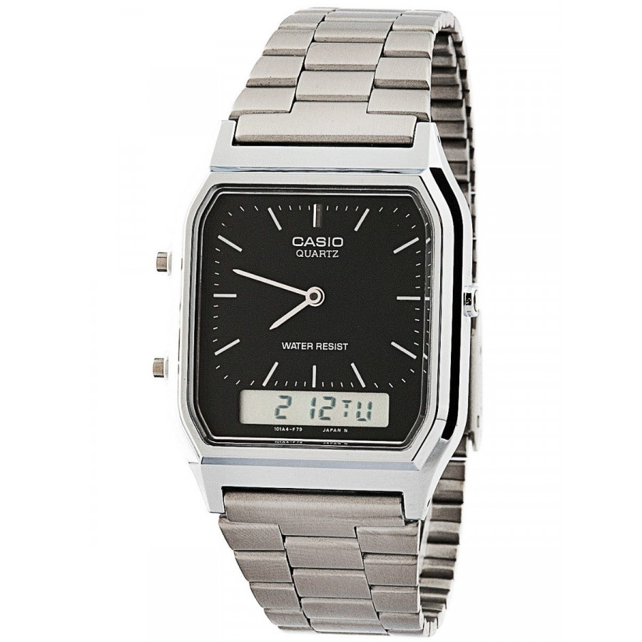 05ce95b58ff Relógio Casio Prateado Vintage Analógico digital AQ230A1DMQ