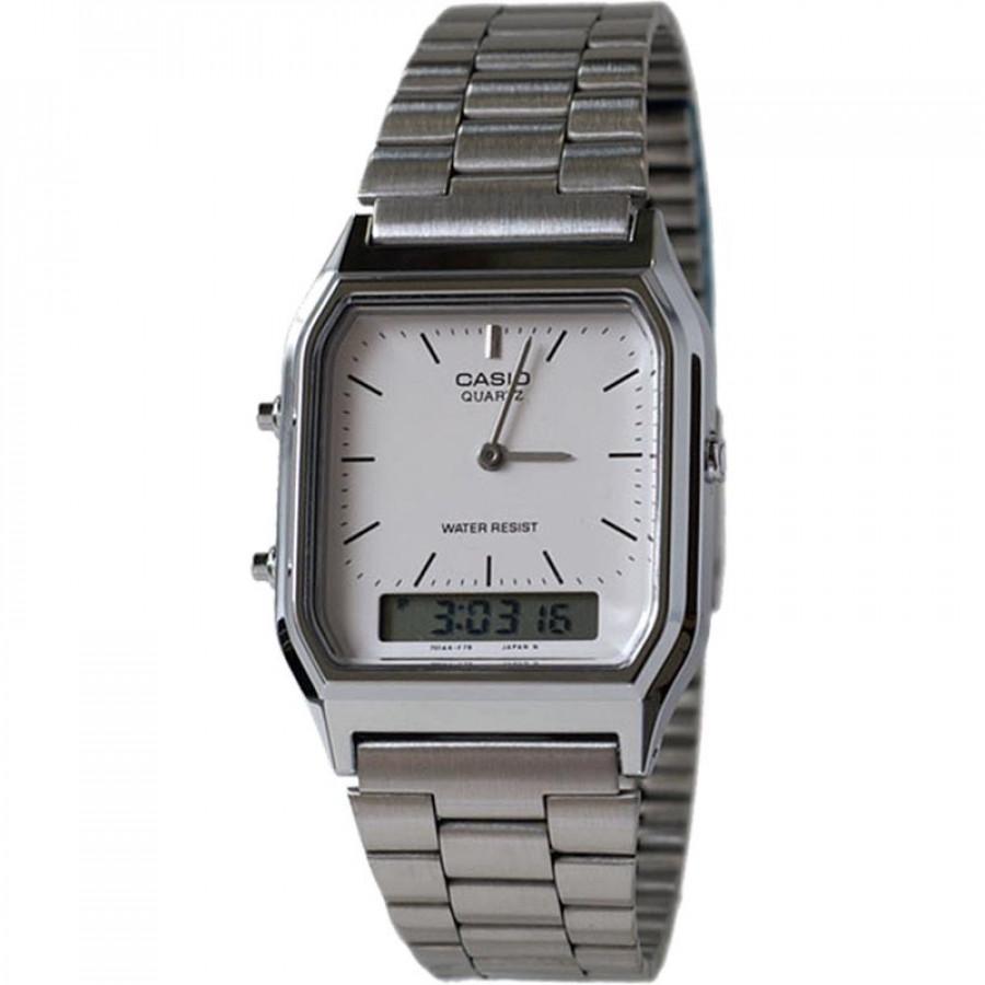 ea56352b2ef Relógio Casio Prateado Vintage Analógico e digital AQ230A7DMQU