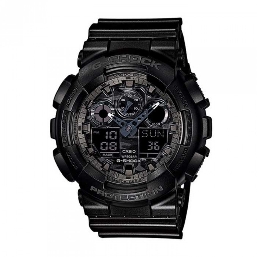 b4c5d172f95 Relógio Casio Preto Masculino G-Shock Analógico e Digital GA100CF1ADR