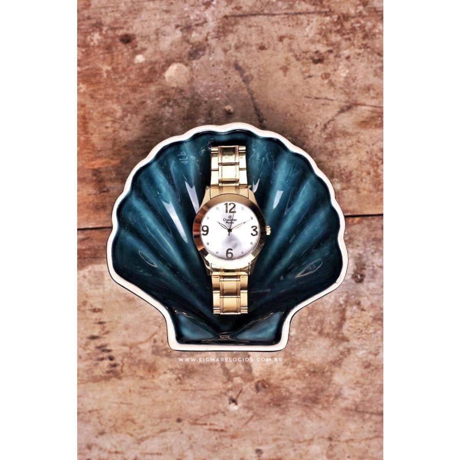 bf4f611508e Relógio Champion Feminino Dourado CH24268H