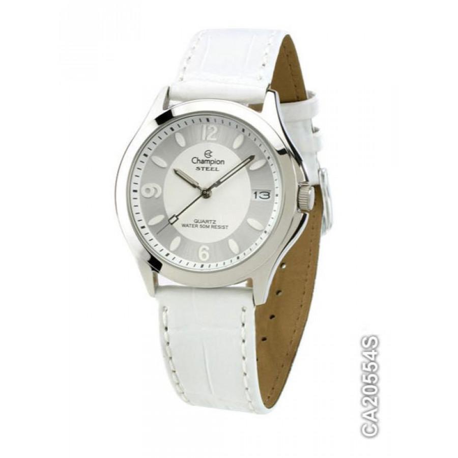 ffe7d0fe8fb Relógio Champion Prateado Feminino com Pulseira de Couro CA20554S