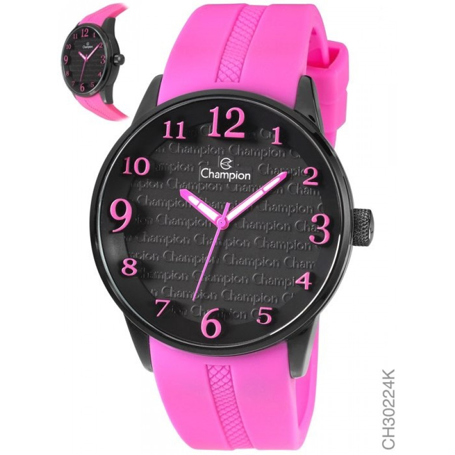 a779e51940a Relógio Champion Feminino com Pulseira de Silicone Rosa CH30224K