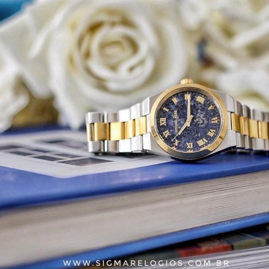 bccc9a1bd29c9 Relógio Michael Kors Dourado e Prateado Feminino MK5893