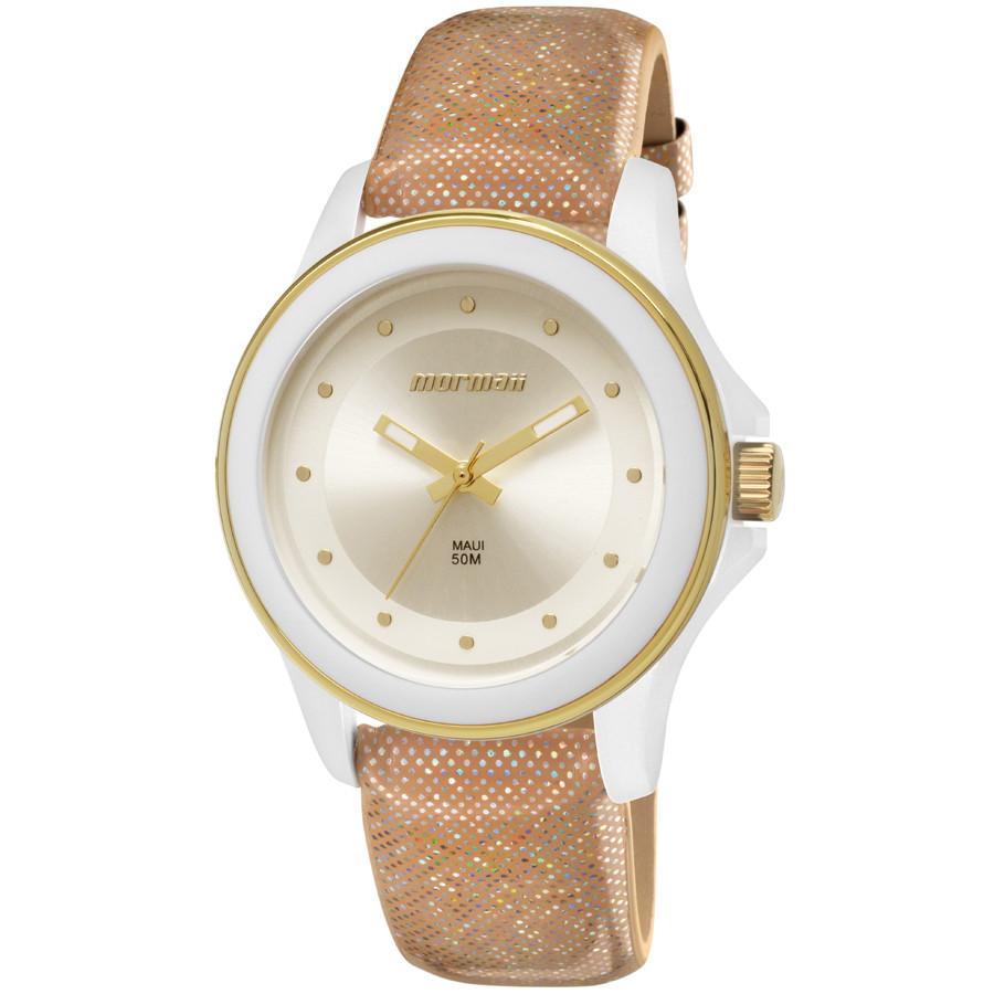 24ff7842ed4 Relógio Mormaii Feminino com Pulseira de Couro MO2035FP 2K