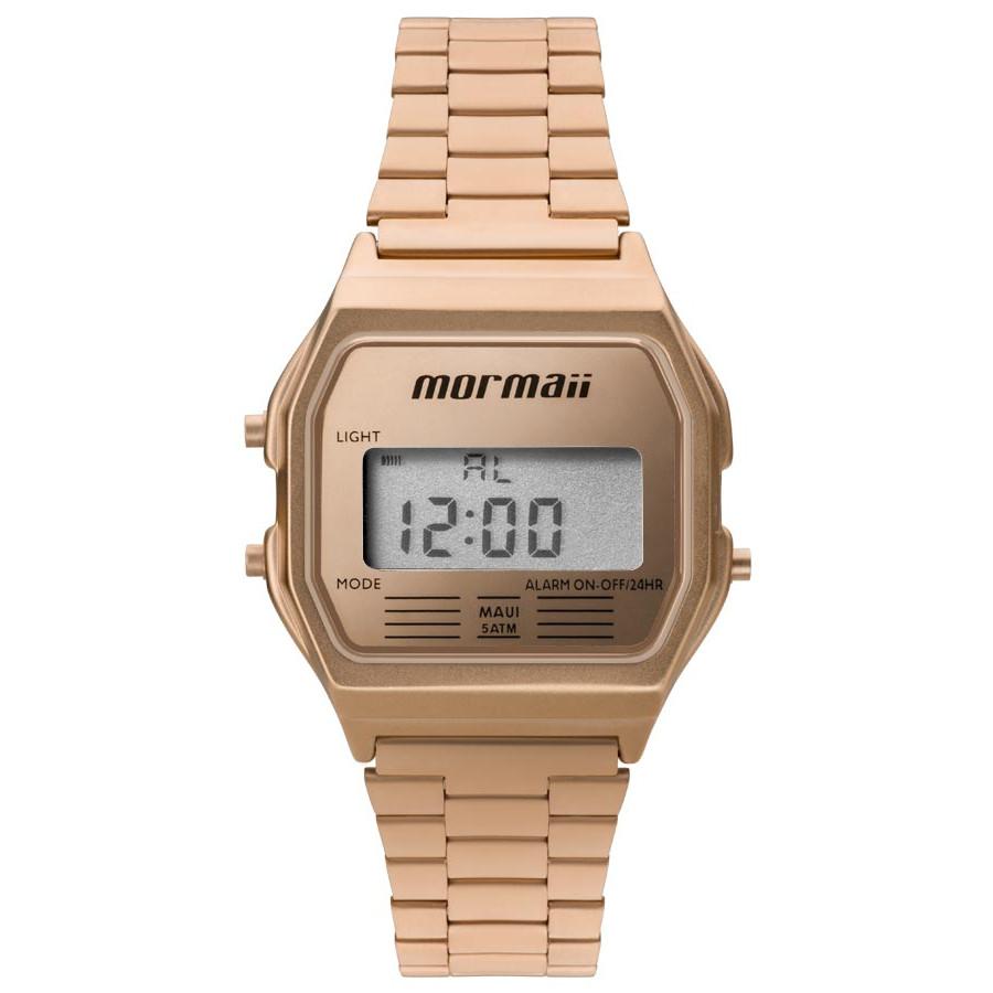 21e5b1c017037 Relógio Mormaii Vintage Digital Rosé MOJH02AI 4J