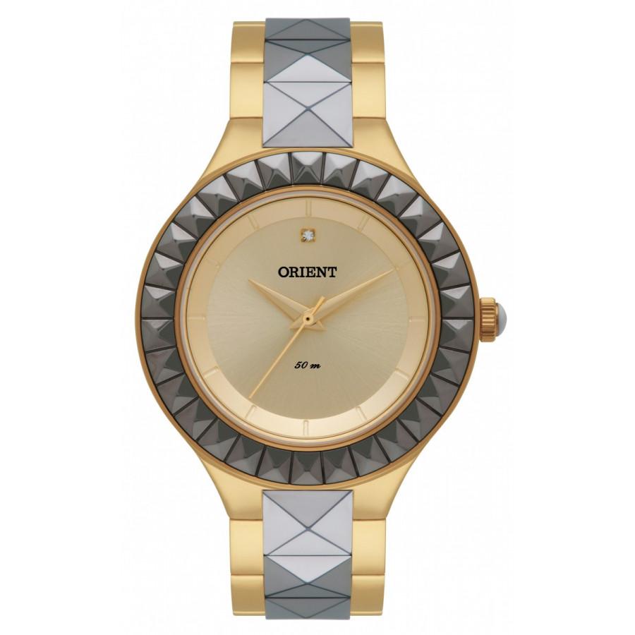 b94a138f26f Relógio Orient Feminino Dourado e Prateado Analógico FTSS0039C1KG