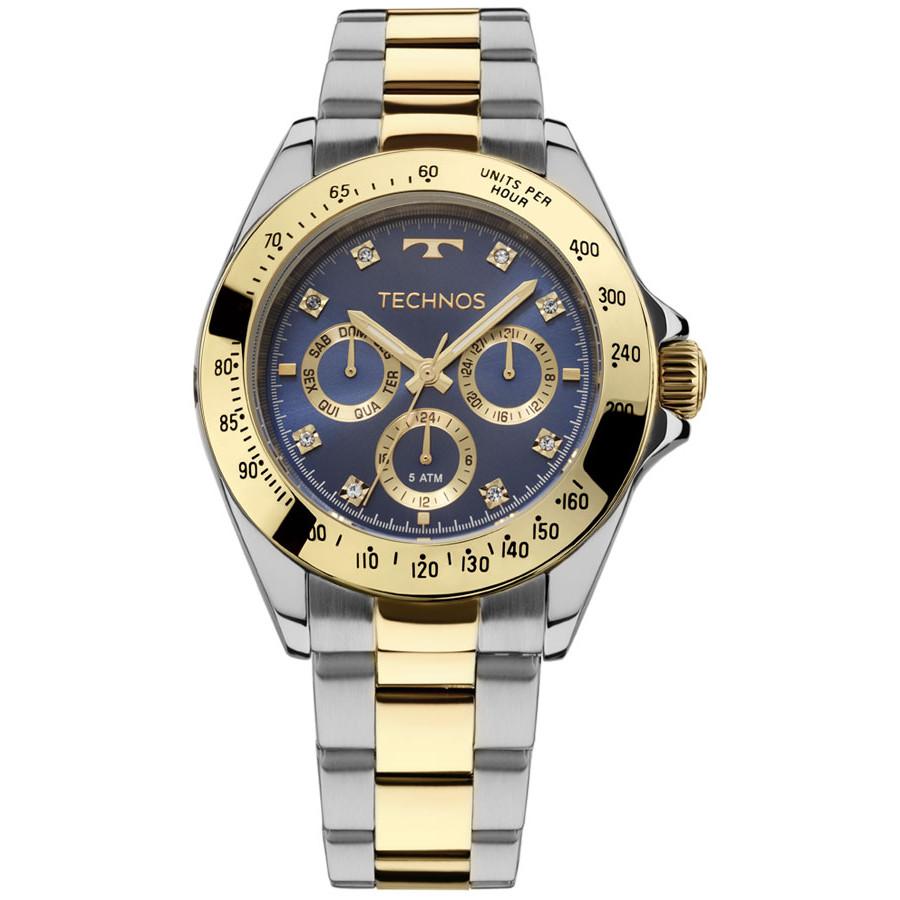 b1e0f92de770e Relógio Technos Dourado e Prateado Elegance 6P29AIV 5A