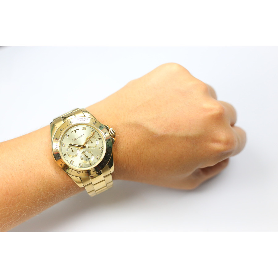 Relógio Technos Dourado Feminino Elegance Ladies 6P29AIT 4X ce46f2a9be