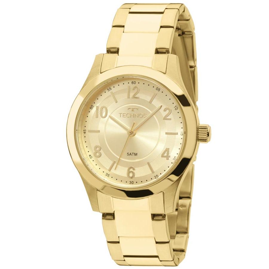 d141a072bf6 Relógio Technos Dourado Feminino Elegance Boutique Analógico 2035MFT 4X -  Marcas