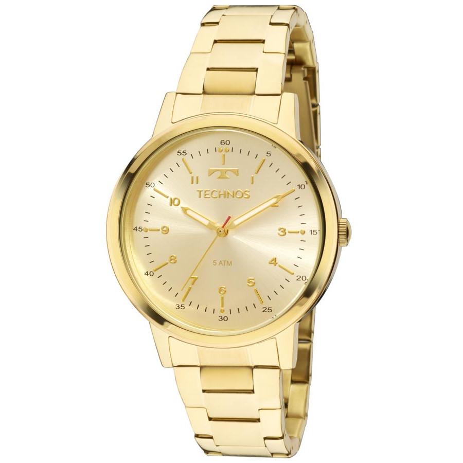 533bbe8c7f4 Relógio Technos Dourado Feminino Elegance Dress 2035MFN 4D