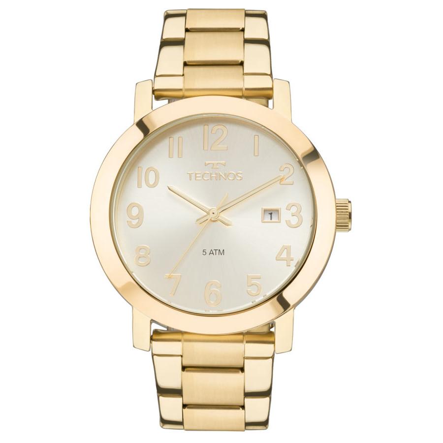 Relógio Technos Dourado Feminino Elegance Dress 2115MND 4X ae8ffb4d9a