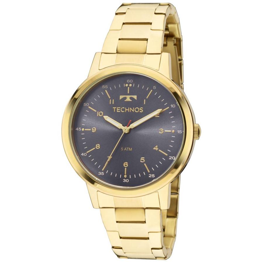 Relógio Technos Dourado Feminino Elegance Dress 2035MFN 4A bd88a1dc10
