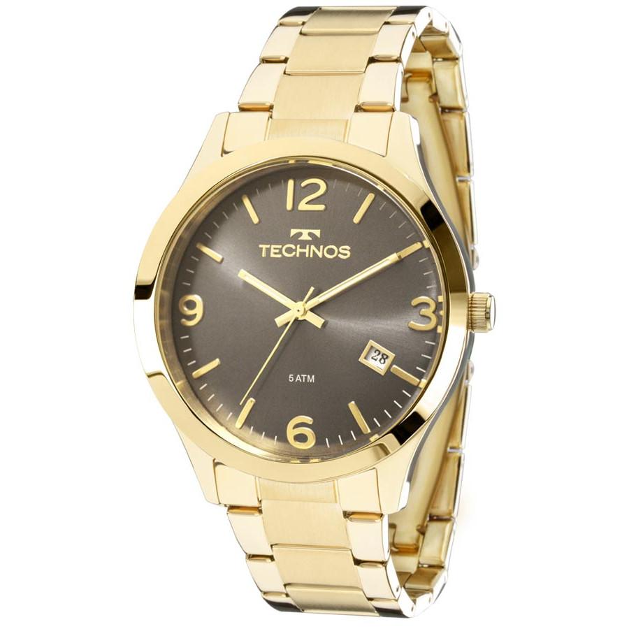 629ed74d5c5df Relógio Technos Dourado Feminino Elegance Dress 2315ACD 4C