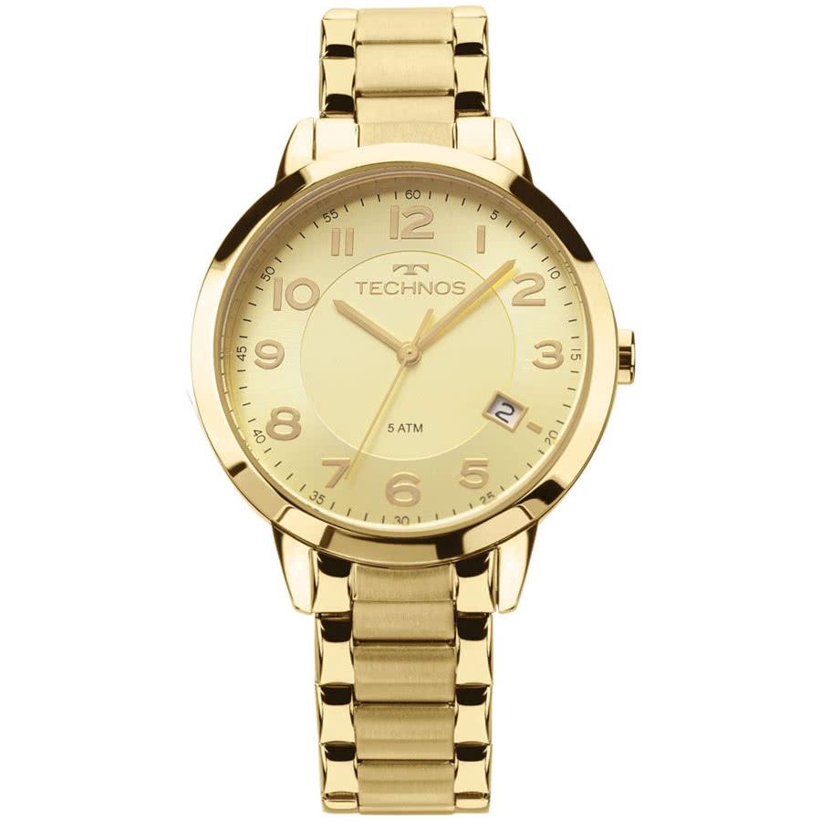 a025f294684 Relógio Technos Dourado Feminino Elegance Dress analógico 2315ACM 4X - Cor
