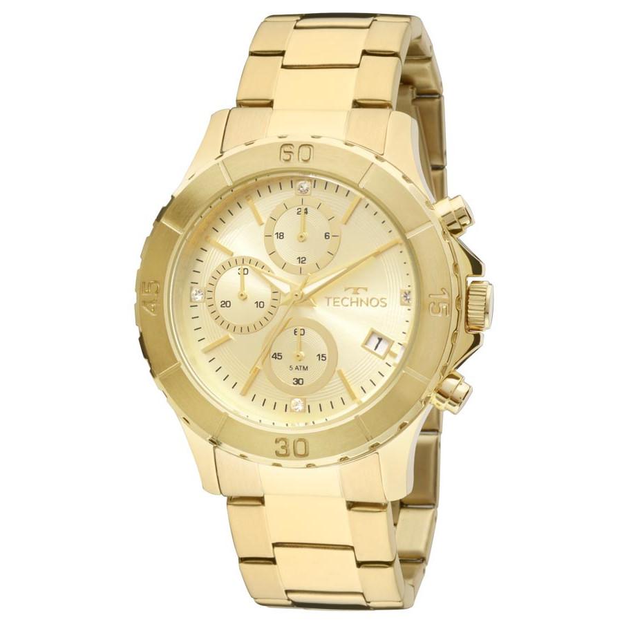 Relógio Technos Dourado Feminino Elegance Dress JS15BM 4D e28d7e7cab