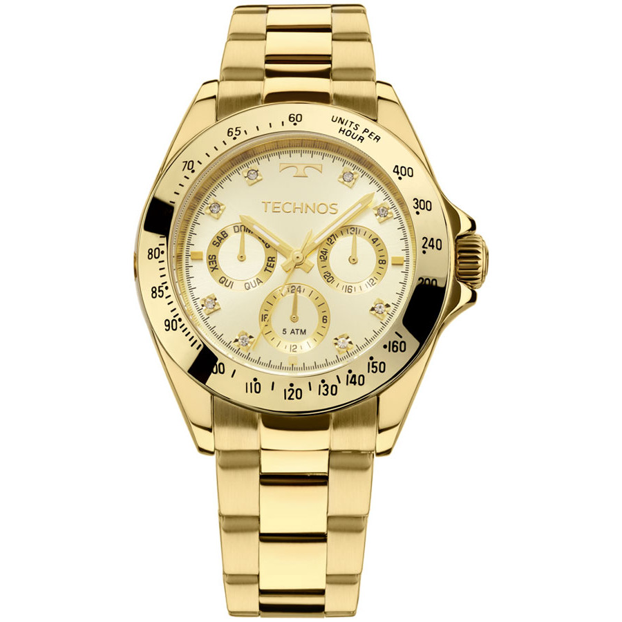 b9d39bbf732 Relógio Technos Dourado Feminino Elegance Ladies 6P29AIT 4X