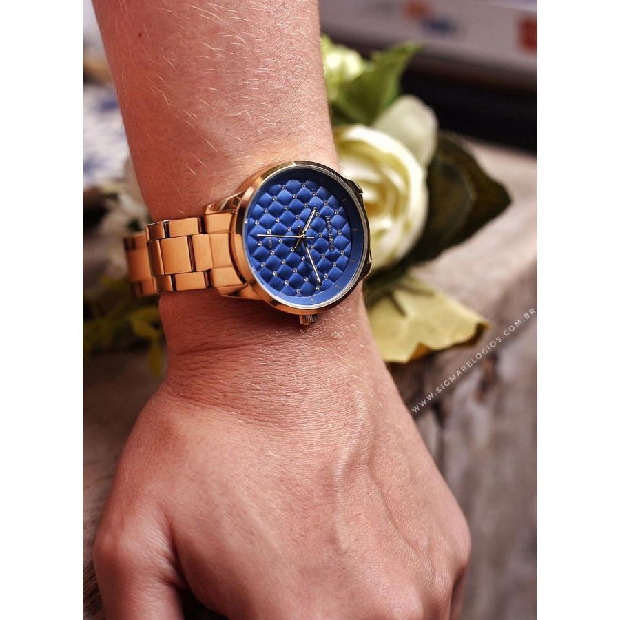 98c866e1dc8a6 Relógio Technos Feminino Dourado Fashion Trend 2035MBW 4A