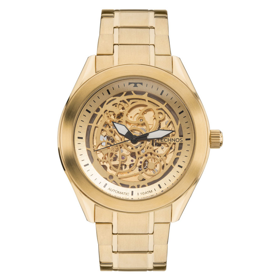 ac9cec87867 Relógio Technos Dourado Masculino Automático 8N24AH 4X