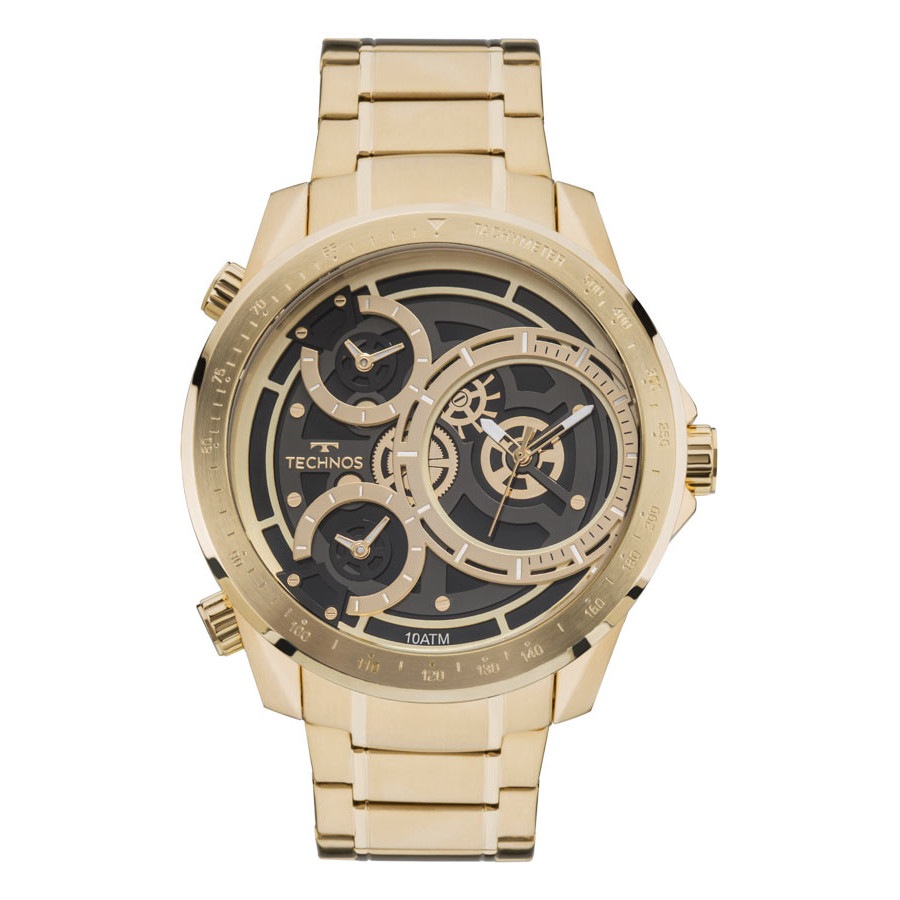 17990fbfdd3 Relógio Technos Dourado Masculino Classic Legacy 2035MLA 4P